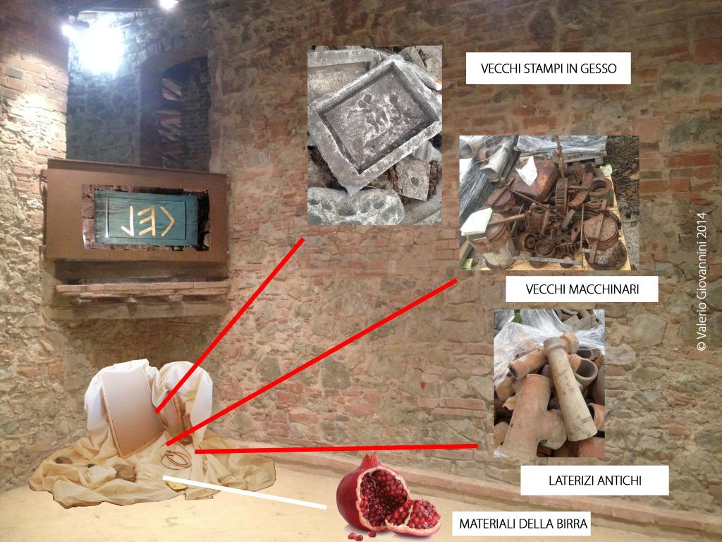 """Il rendering di Cel, l'installazione ambientale dell'artista Valerio Giovannini che impreziosir? lo spazio riservato all'azienda """"Birra del Borgo"""""""
