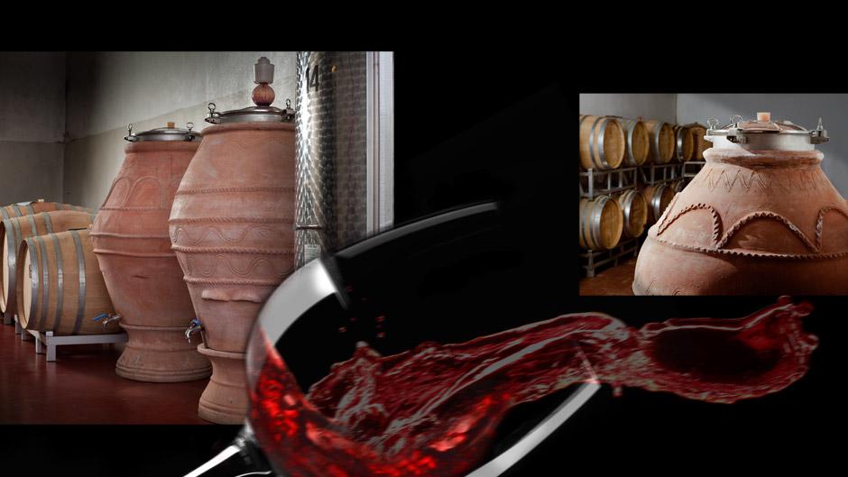 giare da vino in terracotta di Artenova