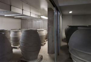 La stanza di essicazione all'interno della fornace