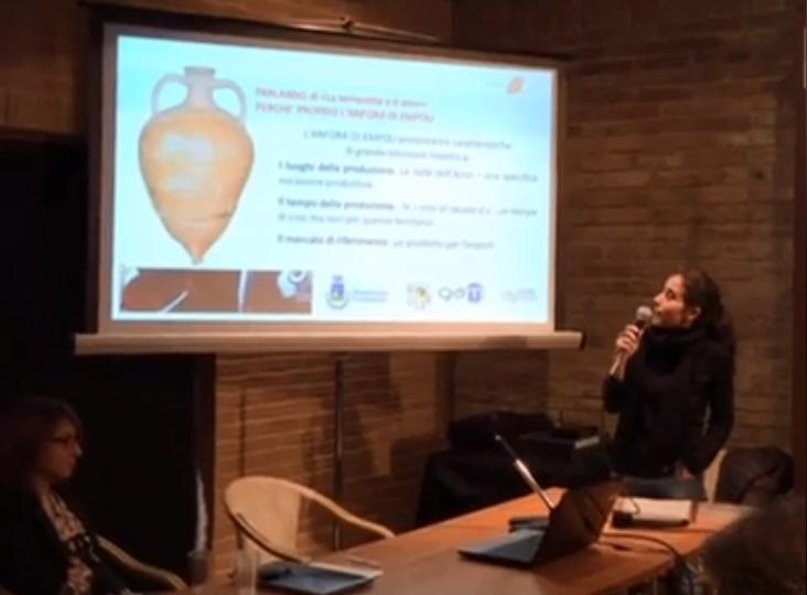 Ilaria Alfani del Museo Archeologico di Montelupo Fiorentino parla dell'anfora di Empoli
